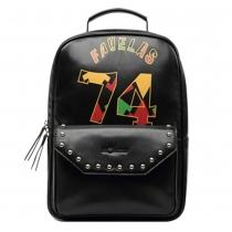 Retro Rivet Floral Print Backpack School Travelling Bag