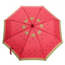 Kompakter faltender Regenschirm mit Druck von Wassermelone
