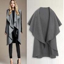 Fashion Kape-Style unregelmäßige Cardigan Woolen Vest