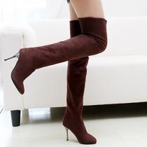Fashion und elegante Damen Stiefel mit Höhe über Knie