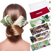 Haarband im Böhmischen mit Schickem Muster und Schleifenform 2 Stück/Set
