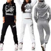 Fashion Sportanzug Tracksuit Sportwear mit Logo-Prints - aus Baumwolle