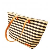 Niedliche Leinwand Handtasche mit Streifen-Druck vom Marinestil