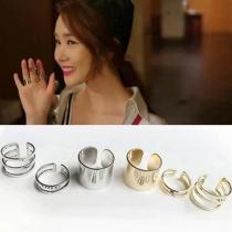 Gold-tone/Silver-tone Rings 3 Pcs 1 Set