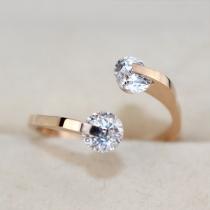 Fashion 18K Rose Gold Rhinestone Women Ring