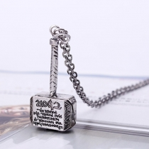 Retro Style Hammer of Thor Pendant Necklace
