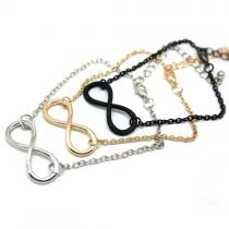 Punk Style Number 8 Alloy Bracelet