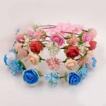 Bohemian Style Flower Crown Garland Headband