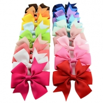 Multi Colored Sweet Bowknot Kids Hair Clips Hairpins