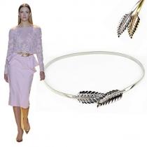 Mode Gold/Silberton Blattförmige Elastische Taillen-Kette Damenschmuck
