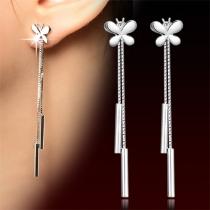 Modische Schmetterlinge Pendel Ohrring Damenschmuck