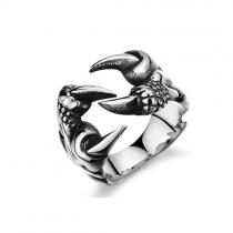 Retrostil Herren Titan Stahl Ring Schmuck für Männer