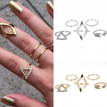 Mode Zu Allem Passend Rautenförmig Dreieckig Ringset Fünf Stück