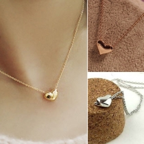 Mode Herzförmiger Anhänger Kurze Halskette