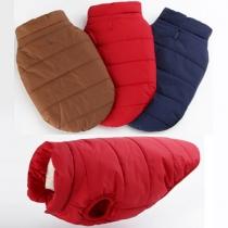Mode Warme Einfarbig Einreiher Weste für Hunde