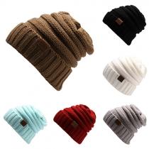 Mode Einfarbig  Gestrickte Mütze