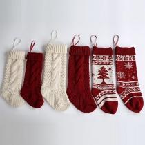 Nette Art Weihnachtsdekoration Gestrickte Socken