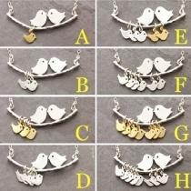 Mode Liebesvögel Anhänger Kurze Halskette