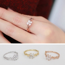 Mode Strass Glückslee Ring