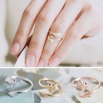 Modern Nett Fuchsform Verstellbarer Offener Ring