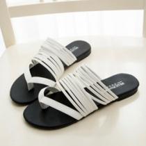 Bohemian Style Flat Heel Multi-strap Thong Sandals