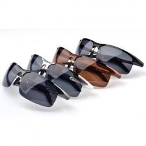 Fashion Frameless Anti-UV Men Polarized Sunglasses