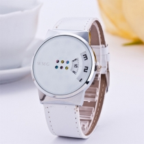 Fashion PU Leather Colorful Dial Women Watch