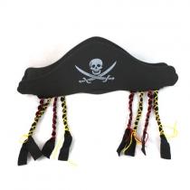 Einzigartige Art Piraten-Hut mit Zöpfen Halloween