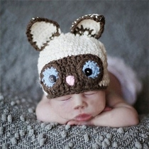 Cute Groundhog Shaped Hand-woven Photography Costume for Kids
