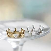 Mode Gold/Silberton Kronenring Damenschmuck