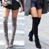 Fashion Overknees Stiefel mit Schnürung