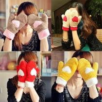 Süße Süßigkeiten-Farbe Warme Plüsch-Handschuhe
