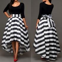 Fashion elegante Damen Zweiteiler mit Tops und Rock