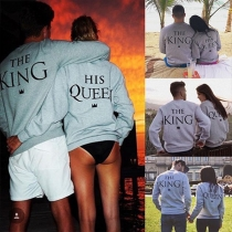 Fashion Casual Ehepaar T-Shirt Sweatshirt Pullover - The King and His Queen