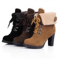 Fashion Stiefelette Martin Boots aus Veloursleder, mit Futter