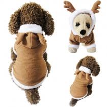 Süße Winterjacke Mantel für Hund Hündchen - Cosplay wie Elch