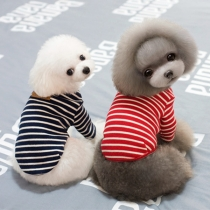Cute Style Contrast Color Striped Pet Clothes