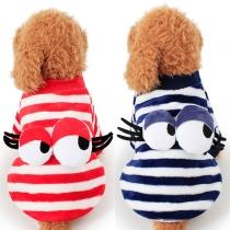 Süße Wintermantel Jacke für Hunde - mit 3D Augen auf der Rückseite