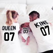 Eltern-Kinder Kleidung: T-Shirts für Königin & König, Jumpsuits für Prinzessin & Prinz
