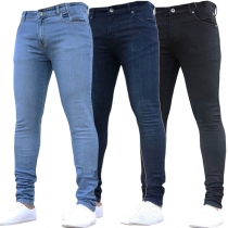 Fashion Herren Stone Washed Slim Fit Jeans - Jeans