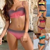 Sexy stylische Push-Up Bikini mit Schulterträger
