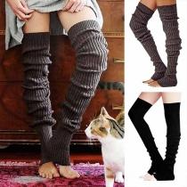 Kuschelige warme gestrickte Damen Overknie-Socken - Stricksocken