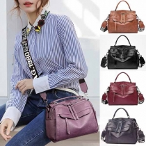 Fashion Solid Color Multifunctional Shoulder Messenger Bag