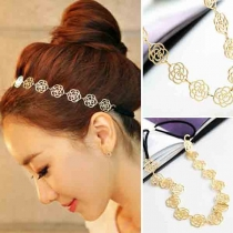 Fashion Hollow Out Rose Hair Band