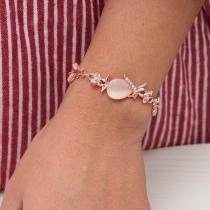 Fashion Opal Inlaid Alloy Bracelet