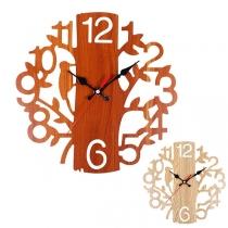Retro Style Tree-shaped Wall Clock
