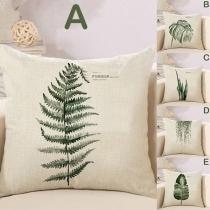 Fresh Style Plant Printed Car Sofa Pillowcase