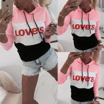 Kapuzensweatshirt im Colorblocking Design