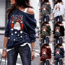 Sweatshirt mit großem raffiniertem Motivauf der Vorderseite