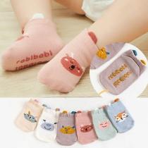 Cute Cartoon Pattern Anti-slip Baby Floor Socks-2 pair/set